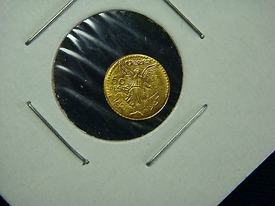 Rare gold 1 gram 50 pesos coin 1821-1947  years.no reserve.