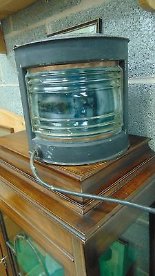Vintage Starboard  - Ships/ Boat Light  - rewired for domestic use.