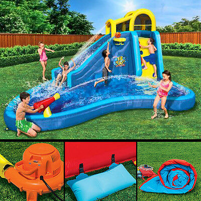 Inflatable Water Slide Pool Bounce House Wall Climber Kids Party Jumper Bouncer