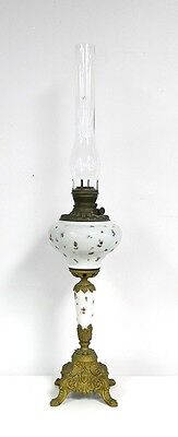 "VICTORIAN GLASS And BRASS TABLE OR PIANO LAMP...37 1/2""..."