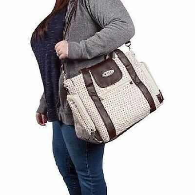 Diaper Changing Bag, Brown Polka Dot Waterproof by Skinly
