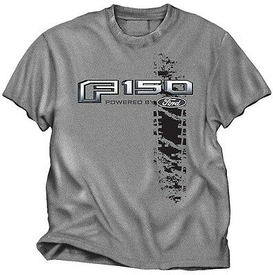 Ford Truck F-150 Tire Track Design Grey Short Sleeve Tee Shirt New Logo