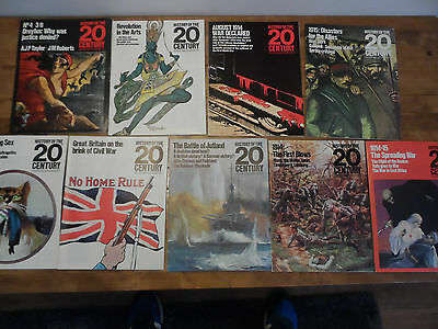 History Of The 20th Century Magazine Various Issues X 9