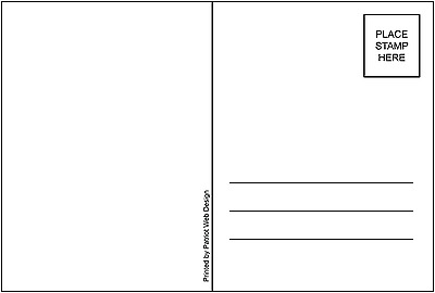 """50 Blank Mailable 4""""x6"""" Heavy Duty 14PT Postcards with Mailing Side"""