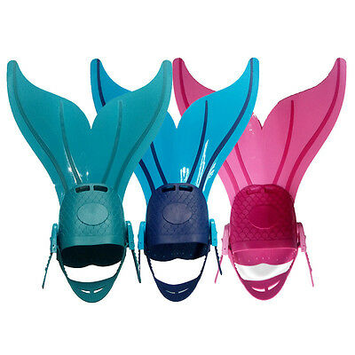 Children Mermaid Fins Frog Shoes Conjoined Swimming Diving Fins Special Supplies