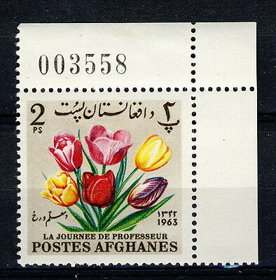 AFGHANISTAN - 1964 Mi.859A Corner Example with Sheet Number Neuf / Mint **(*)