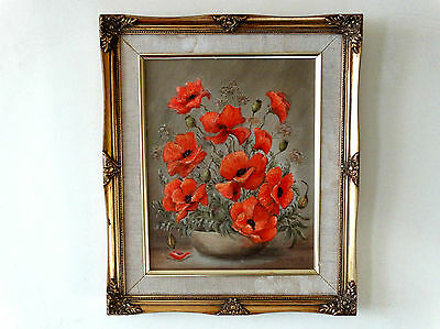 Lovely Oil Painting of Poppies