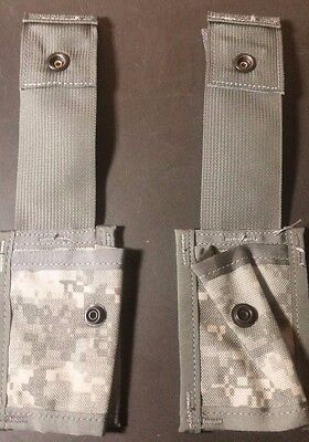 2ea-  US ARMY SURPLUS 40MM SINGLE EXPLOSIVE POUCH**NEW NEVER ISSUED**MOLLE II
