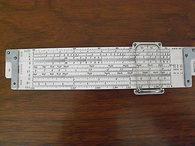 Vintage 1952  K & E Slide Rule No. 4181-1. Like brand new. Leather case perfect.