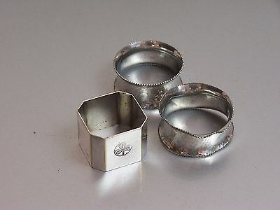 Assortment of Silver Plate Napkin Rings