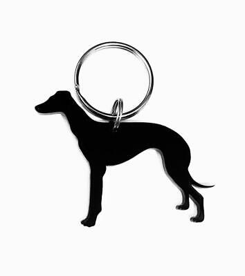 Greyhound Keyring Keychain Bag Charm Gift In Black Acrylic