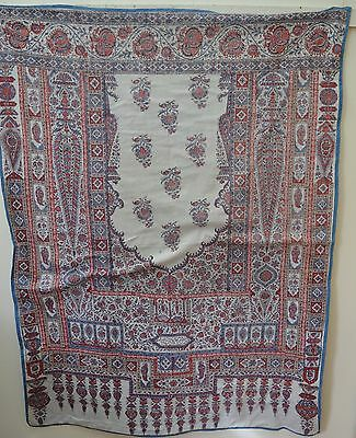 Stunning Vintage Hand Painted Persian Textile – Persian Motif  Ss732