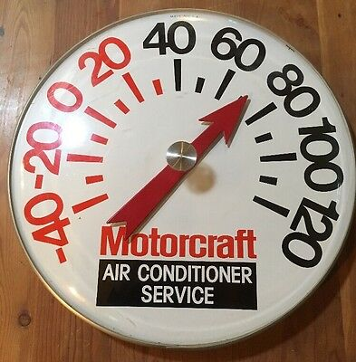 "Rare Vintage 18"" Motorcraft Air Conditioner Auto Service Advertising Thermometer"