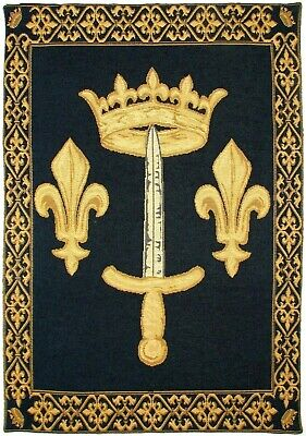 Sword & Crown With Fleur De Lys Lined Belgian Tapestry With Rod Sleeve, 1172