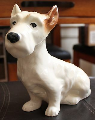 Vintage Large JACK RUSSELL Terrier Dog Ceramic Figurine Excellent Condition