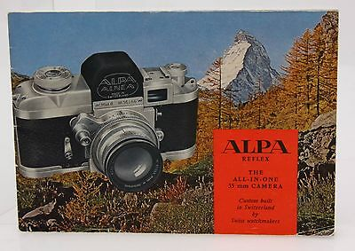 Alpa Reflex Product Guide Booklet - Alpa 4 to Alpa 7, genuine #357567