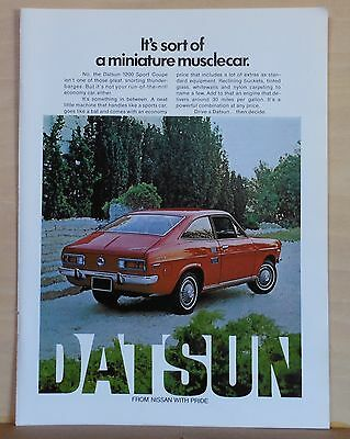 1972 magazine ad for Datsun - Datsun 1200 Sport Coupe, miniature muscle car