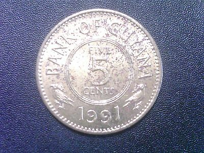 Guayana    5   Cents  1991
