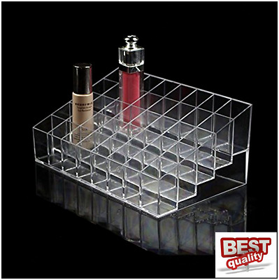 Makeup Nail Polish Display Stand Organizer Clear Holder Rack Acrylic 40 Bottles
