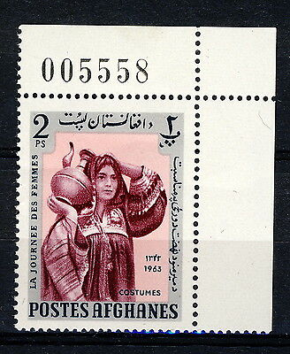 AFGHANISTAN - 1963 Mi.823A Corner Example with Sheet Number Neuf / Mint **(*)