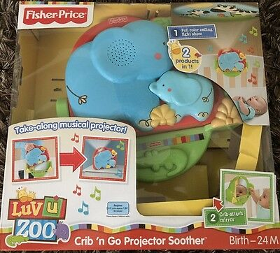 Fisher Price Luv U Zoo Crib N Go Projector Soother Crib Toy ( 2 Pcs)