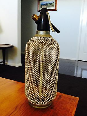 Vintage Retro 1960s  Mesh Glass Soda Syphon