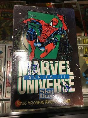 Factory Sealed Box Marvel Universe Series III 3 Impel Skybox Trading Cards 1992