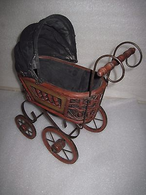 HTF Vintage Baby Doll Carriage Stroller Victorian Buggy 16x15x7 Photography Prop