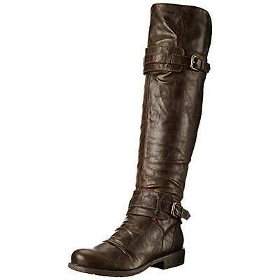 Diba Girl 9814 Womens Curl Up Brown Motorcycle Boots Shoes 7 Medium (B,M) BHFO