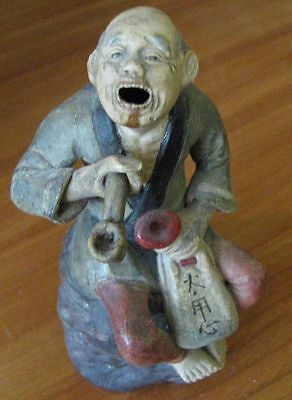 China Chinese Qing Dynasty Porcelain Pottery Statue of Old Man