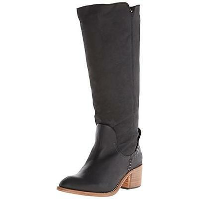 Dolce Vita 9316 Womens Gage Black Textured Heels Knee-High Boots Shoes 6.5 BHFO