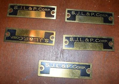 Vintage San Joaquin Light And Power Plates