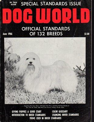 Dog World Magazine June 1966, Lhaso Apso Cover, Special Standards Issue, History