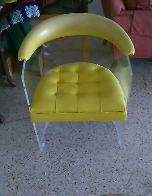 Hill Lucite Acrylic Yellow Chair