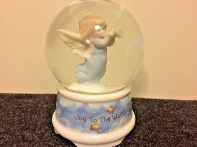 1996 Precious Moments Joy To The World Musical Snow Globe