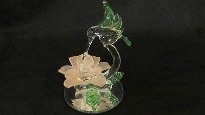 Hummingbird Figurine on Beveled Mirror -  Excellent Pre-owned Condition