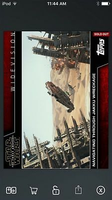 Topps Star Wars Digital Card Trader Jakku Wreckage Widevision Insert Award