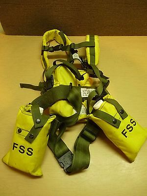 FSS Wildland Firefighter Belt Pack w/ Harness, Belt, Canteen bags. Dated 1990