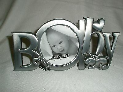 Baby Picture Frame Pewter color Malden  new with tag