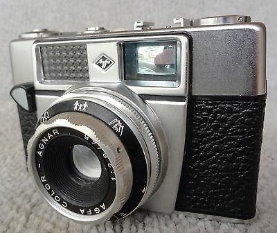 GERMAN 1960's Agfa Optima 1A 35mm Film Camera With  1:2.8 /45 Color-Agnar Lens