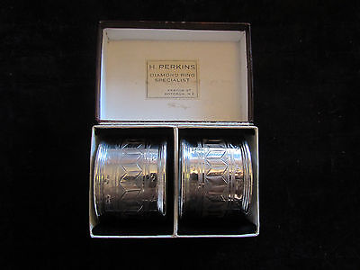 Silver Napkin Rings - Unmarked