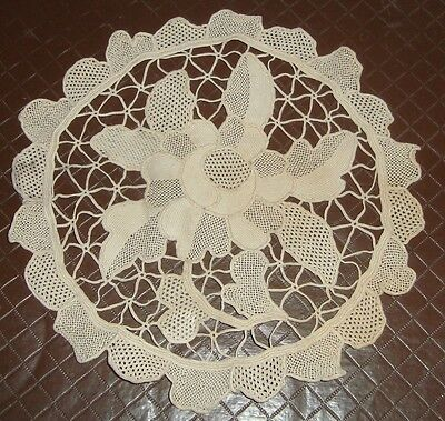 Vintage Very Old Antique Lace Hand Craft Doiley