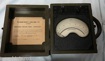 #MM.  OLD AUSTRALIAN AC ELECTRICAL AMMETER, 0 to 1 AMP