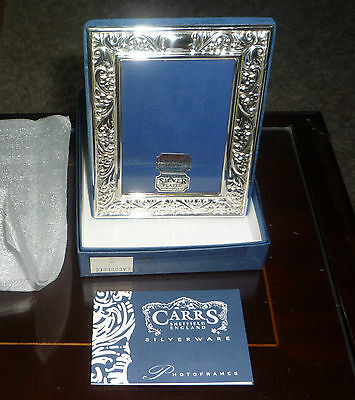 "Silver Plated Boxed Carrs Frame Very Pretty 5""x 4"" Bnib"