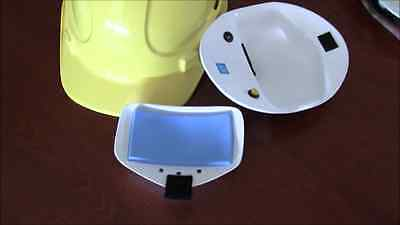 Construction helmet hard hat Coldie air conditioned insert, charger & cartridige