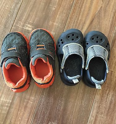 Boys Toddler tennis shoes lot crocs sneakers size 6