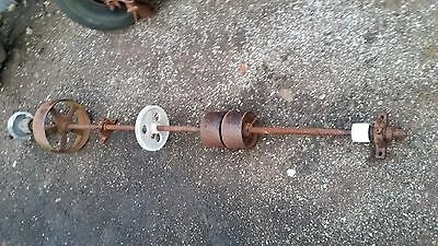 vintage line shaft cast iron sheering plant stationery engine pulley wheels