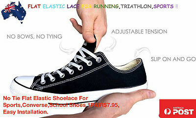 No Tie Flat Elastic Shoelace For Sports,Converse,School Shoes 1PAIR$10 AUPOST
