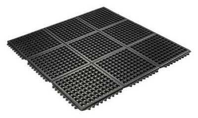 Interlock Drainage Mat,Black,3 ft.x3 ft. WEARWELL 472