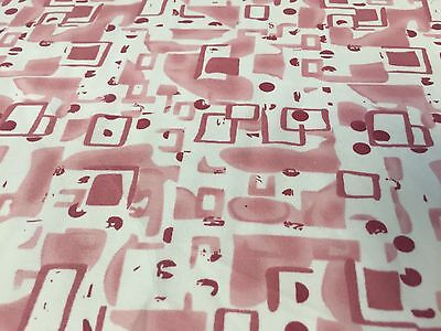 Italian Viscose Crepe  - The Ink House in Old Rose - Dress Fabric